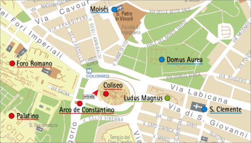 Mapa Coliseo Romano
